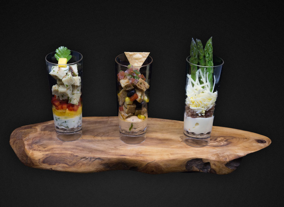 Try Some Shot Glass Canapes for Your Country Club